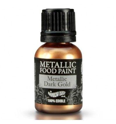 Pintura metalizada oro oscuro 25ml