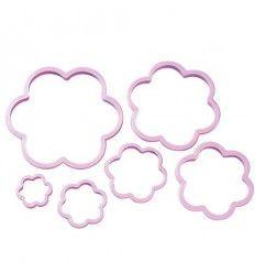 Set 6 cortadores de galletas forma flores