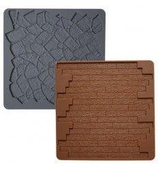 Molde silicona piedra y madera Wilton