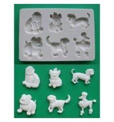 Molde sugarcraft perros