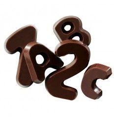 Alfabeto y Números de Chocolate, 60g
