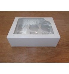 Caja para cupcakes 6 ud blanca