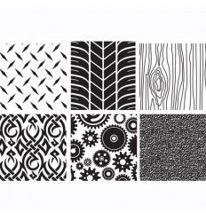 Tapetes de impresión 6 texturas: madera, neumático, metal