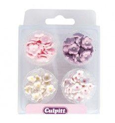 Decoraciones de azúcar mini flores, 100 ud