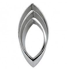 Set 3 cortadores forma oval
