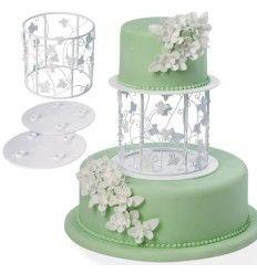 Soporte para tartas, hojas de parra