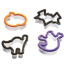 Set 4 cortadores galletas Halloween