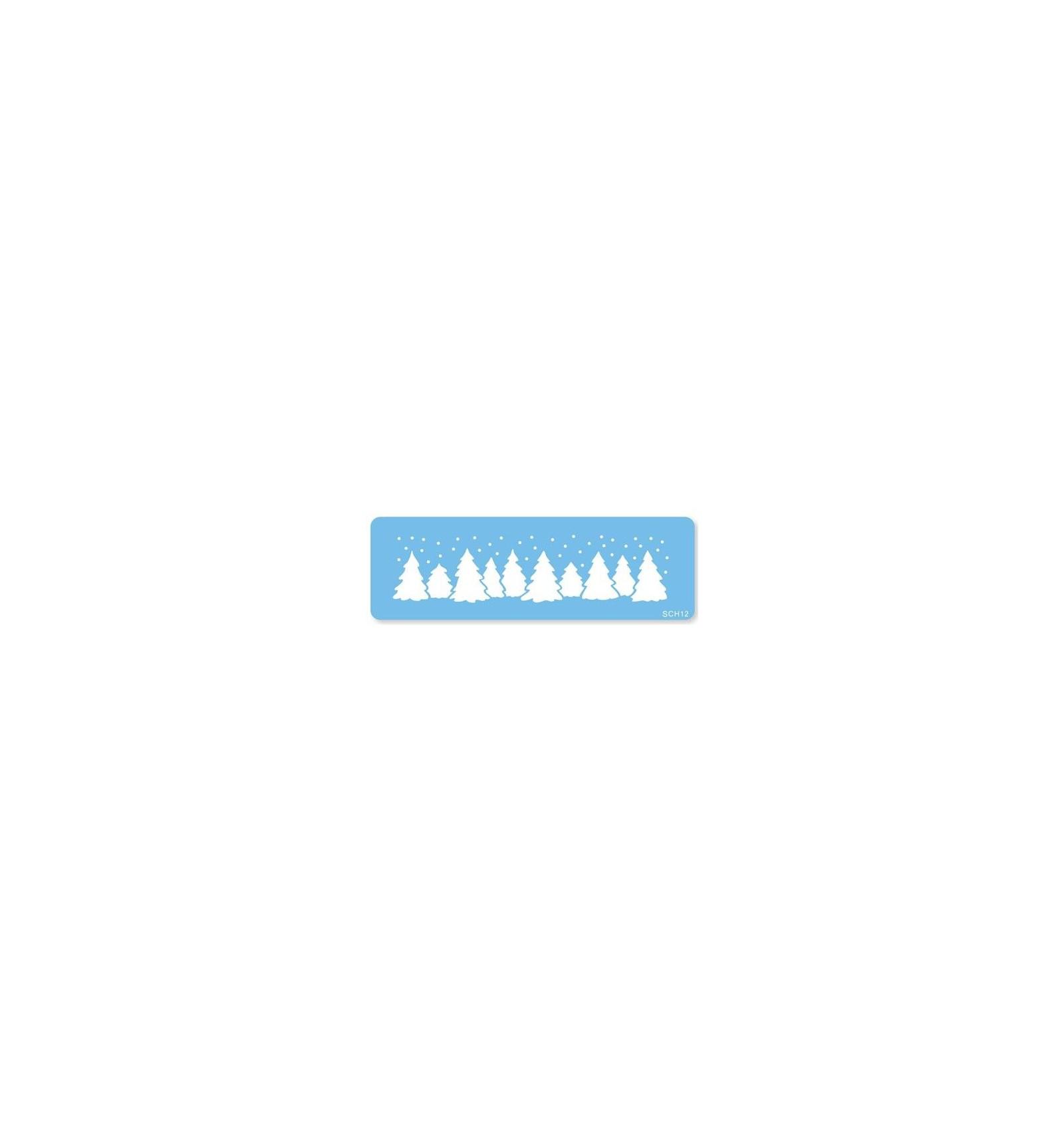 Stencil plantilla paisaje Navidad - Dulcinenca