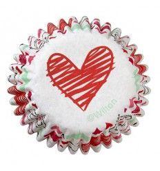 Cápsulas mini corazón San Valentín, 100ud