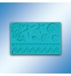 Molde de silicona formas marinas