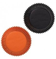 Cápsulas standard Negras y naranjas, 75Ud