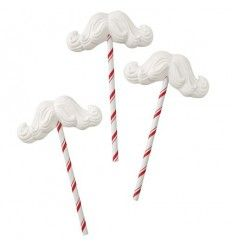 Piruletas Bigote de Santa Claus