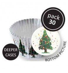 Cápsulas aluminio Árbol Navidad,30 ud
