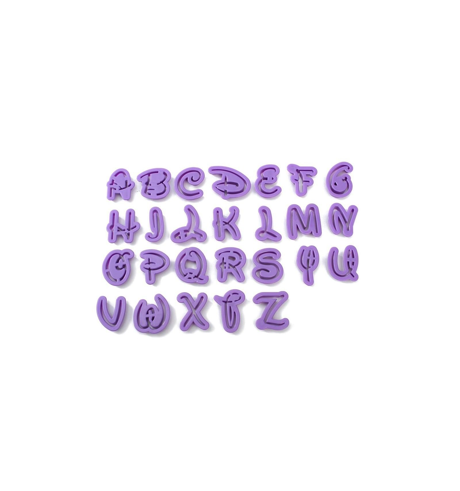 Cortador alfabeto Disney, 26 Letras - Dulcinenca