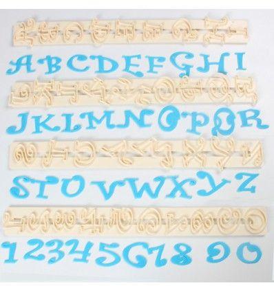 Regla cortador letras y números 2 cm - Dulcinenca