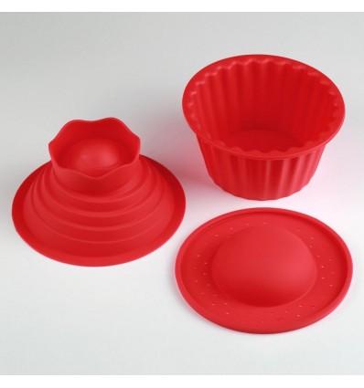 Molde silicona cupcake gigante 3d dulcinenca - Moldes cupcakes silicona ...
