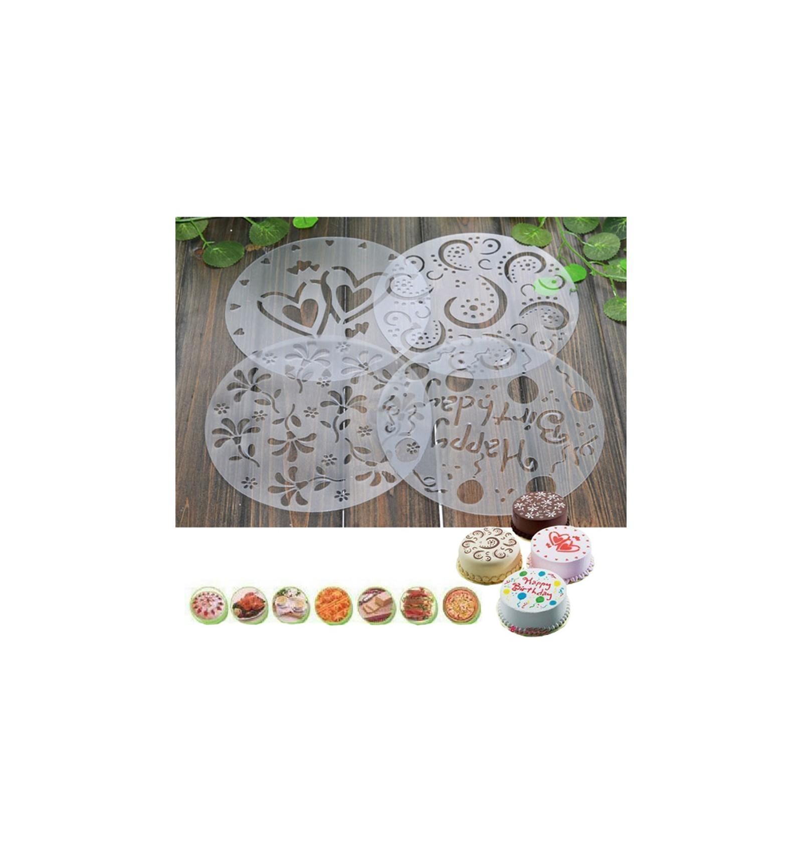 Plantilla Stencil pastel 4 modelos - Dulcinenca