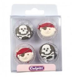 Decoraciones comestibles Piratas, 12Ud
