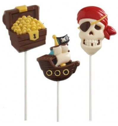 Molde piratas piruletas chocolate