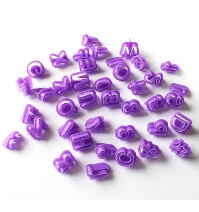 Cortadores alfabeto/números 40u.