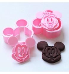 Set cortadores galletas Mickey y Minnie Mouse