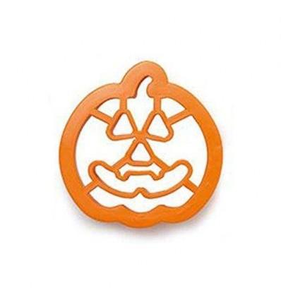 Cortador de galletas Calabaza Halloween con marcador 8 cm