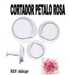 Cortador expulsor PETALO DE ROSA, 3 ud