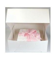 Caja blanca para tartas 32x32x13