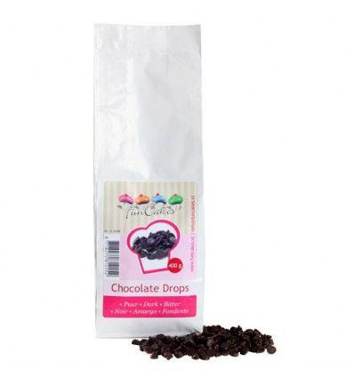 Gotas chocolate oscuro FunCakes 400gr