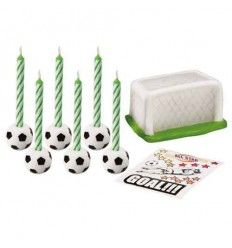 Set velas fútbol