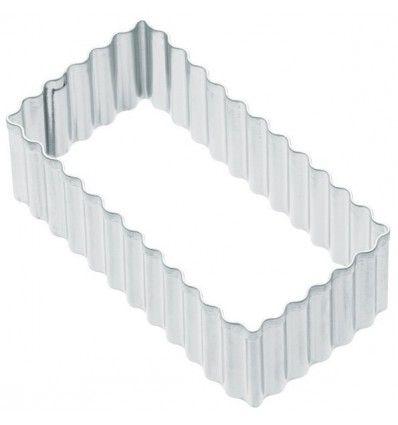 Cortador rectangular con rizado 4x7,5 cm