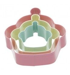 Set 3 cortadores Galletas- Cupcake (tamaños:9-7-5 cm)