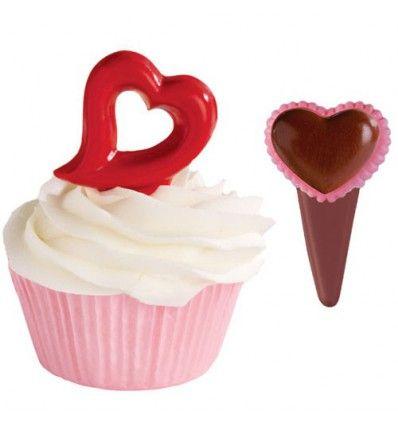 Molde chocolate dos modelos corazón Wilton