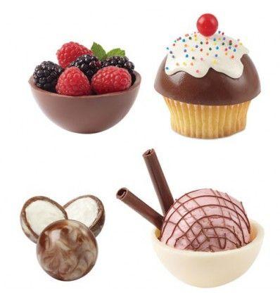 Molde para chocolate o caramelo cúpula