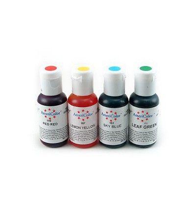 Pack colorantes en gel Americolor 4 colores