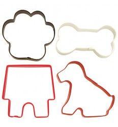 Set de cortadores de galletas perro
