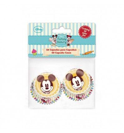 Cápsulas Mickey Mouse tamaño mini, 60 ud