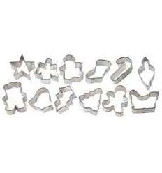 Set 12 mini cortadores de Navidad
