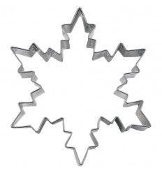 Cortador galletas copo nieve/hielo 8 cm