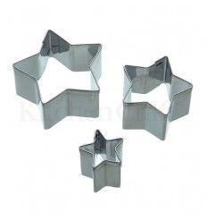 Set cortadores estrella, 3 Ud