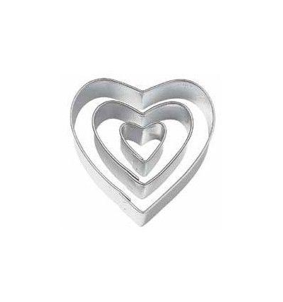 Set cortadores corazón, 3Ud