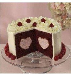 Moldes pastel relleno de corazón