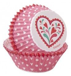 Cápsulas corazón San Valentín, 75ud