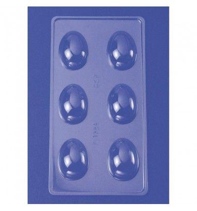 Molde policarbonato huevos, 6 cavidades