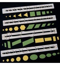 Regla cortador formas geométricas básicas