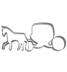 Cortador carroza con caballo