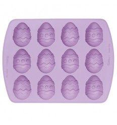 Molde silicona huevos de Pascua,12 cavidades