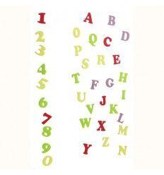 Cortador regla números y letras Art Deco Mayuscula