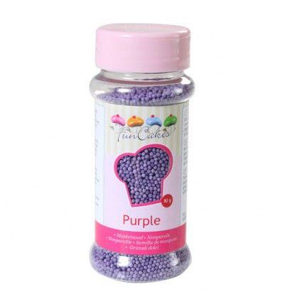 Nonpareils mini perlitas Purple-Morado, 80 gr