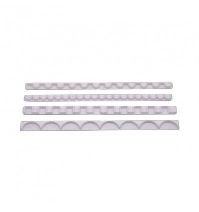 Regla para bordes decorativos ondas-cuadrados (4 reglas)